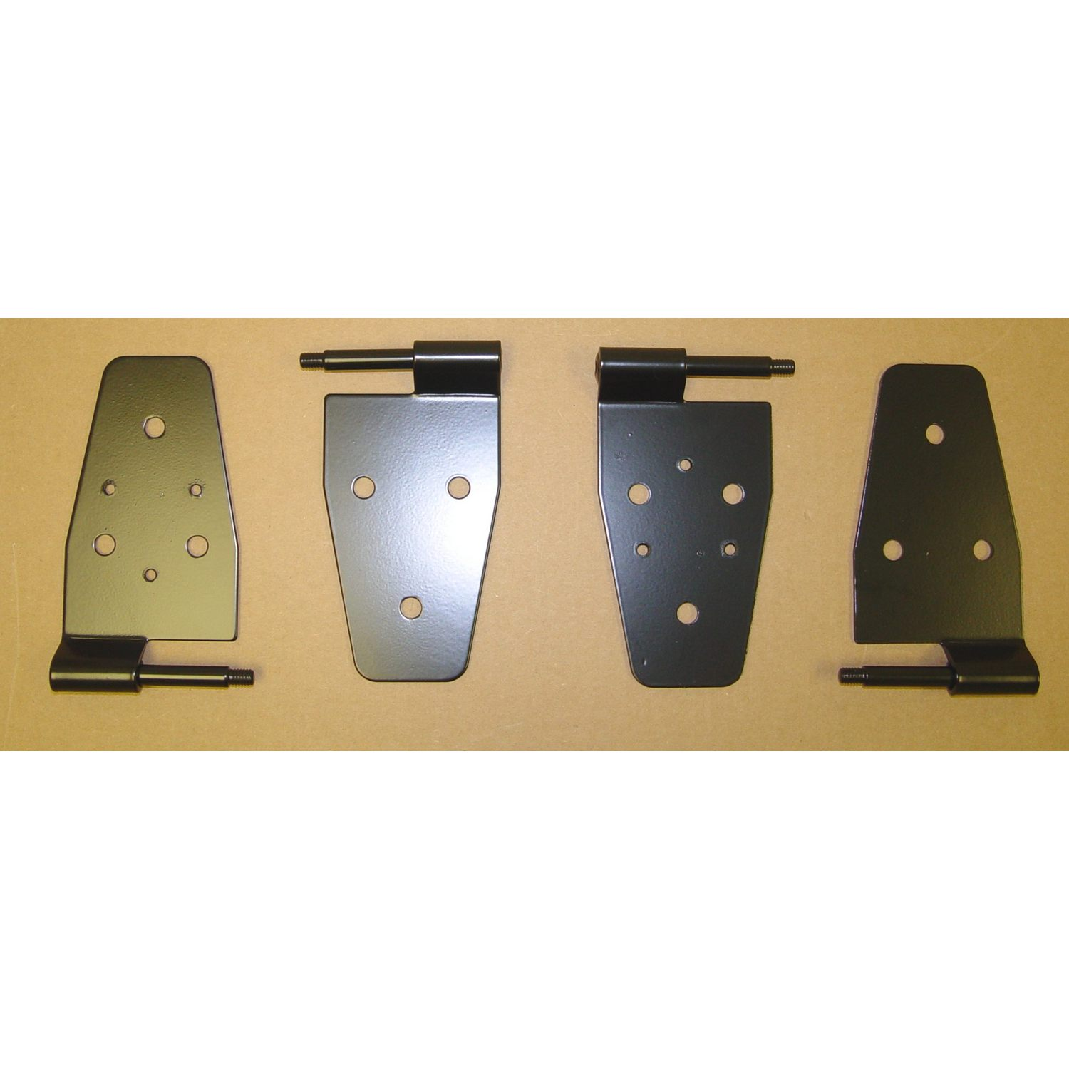 Door Hinge Kit Black 87-06 Jeep Wrangler TJ