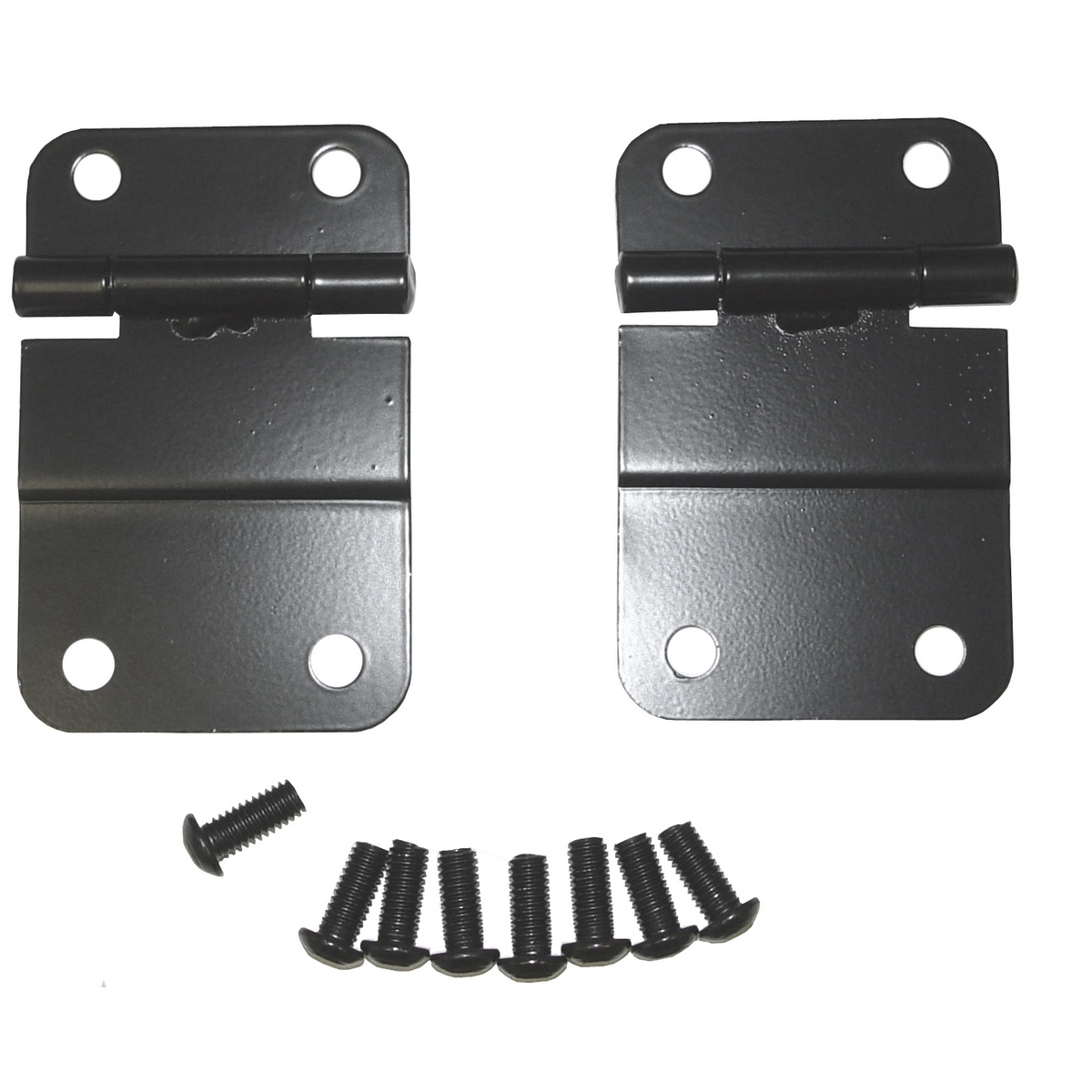 Tailgate Hinge Kit Lower Black 76-86 Jeep CJ