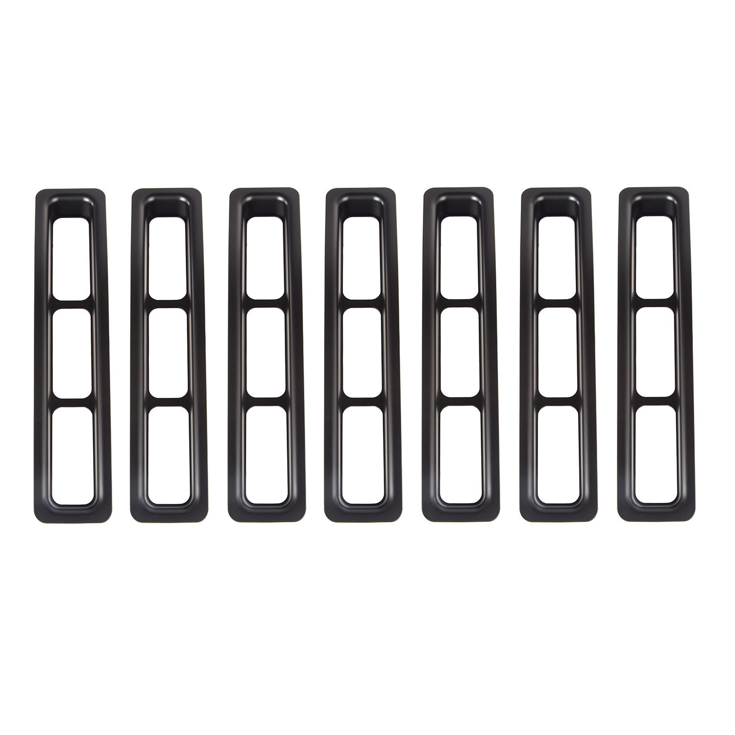 Grille Insert Kit Black 97-06 Jeep Wrangler TJ