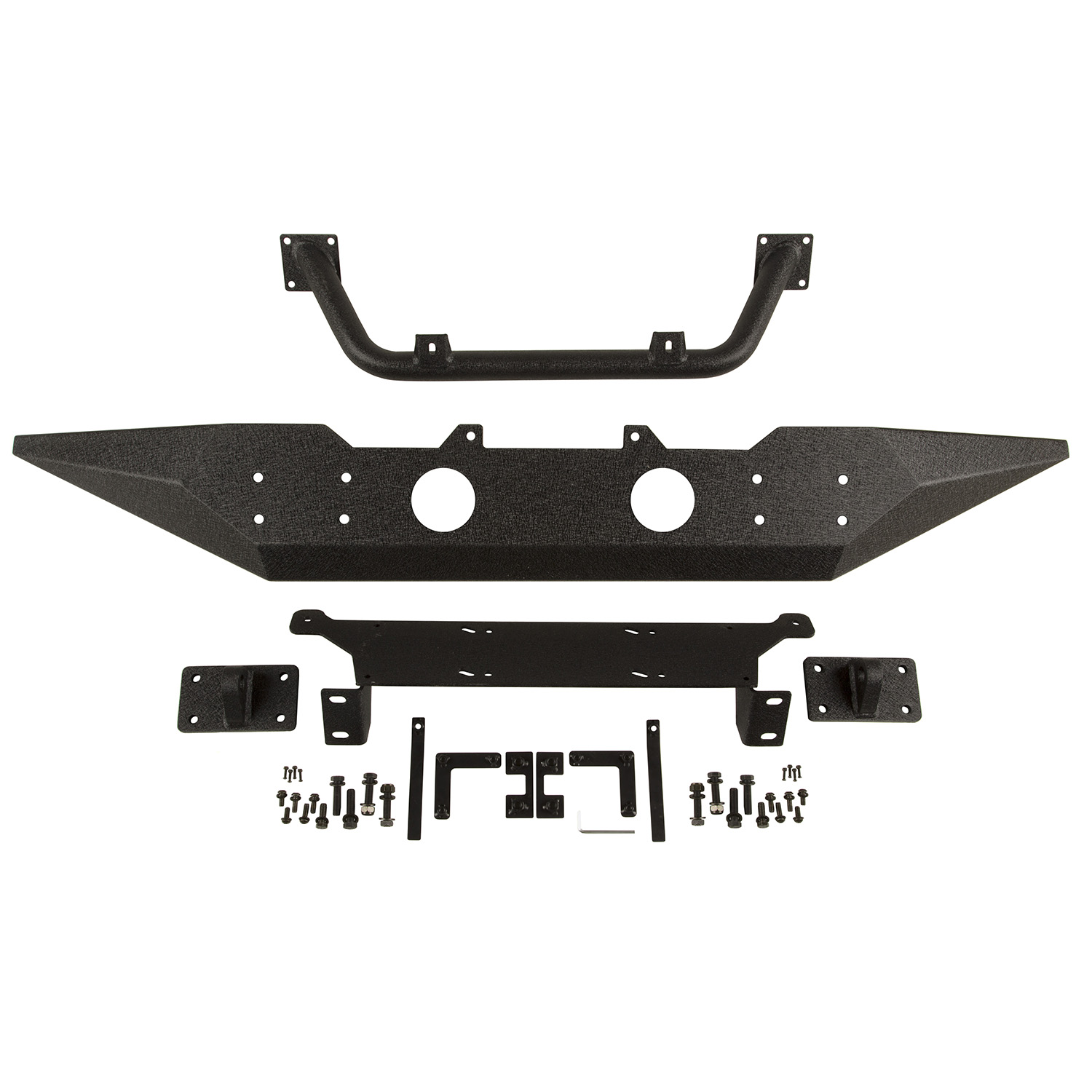 Spartan Bumper Front Standard Ends Overrider 07-18 Wrangler JK Get FREE D-Rings (11235.18) w/ Isolators (11235.30) with Spartan front bumper