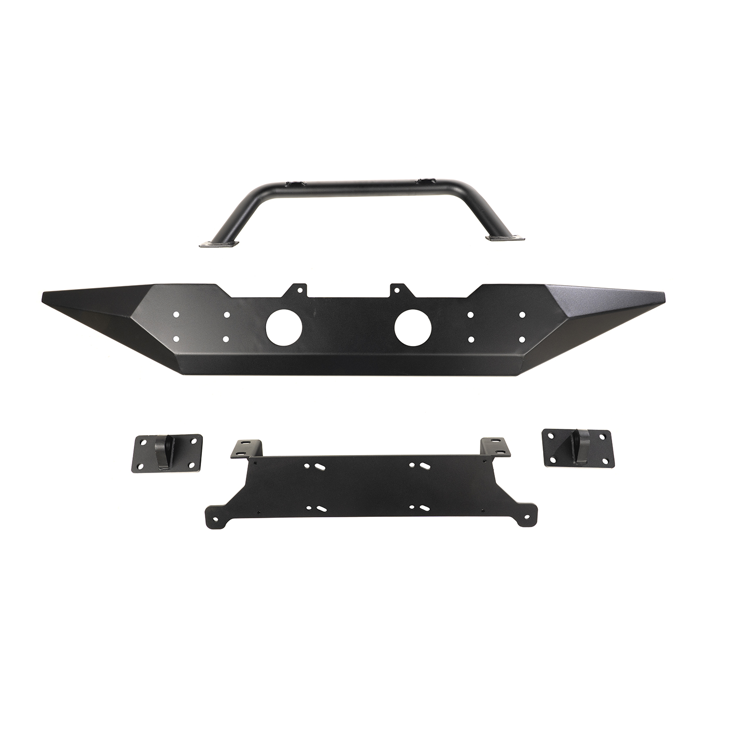 Spartan Front Bumper SE With Overrider 07-18 Jeep Wrangler JK Get FREE D-Rings (11235.18) w/ Isolators (11235.30) with Spartan front bumper