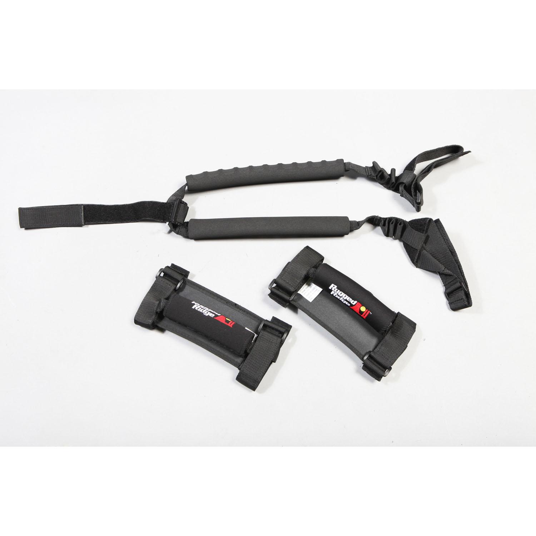 For Jeep Wrangler Tj 97-06 New Grab Handle Cover Kit Black  X 13305.52