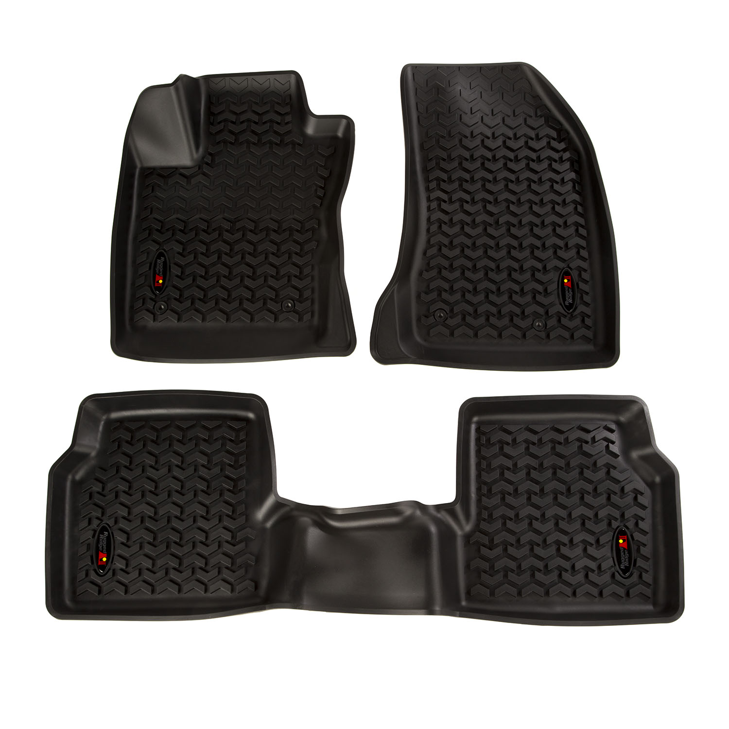 Floor Liner Front/Rear Black 2018-2019 Jeep Compass