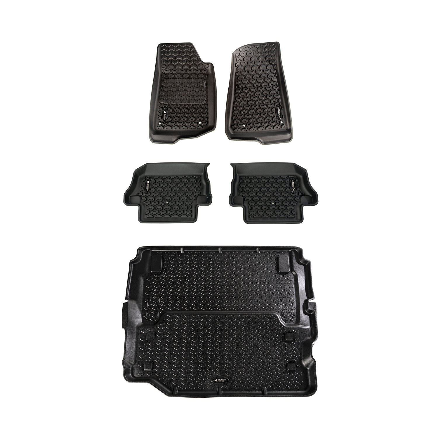 All Terrain Floor Liner Set 18-19 Jeep Wrangler JL 2-dr (full cargo)