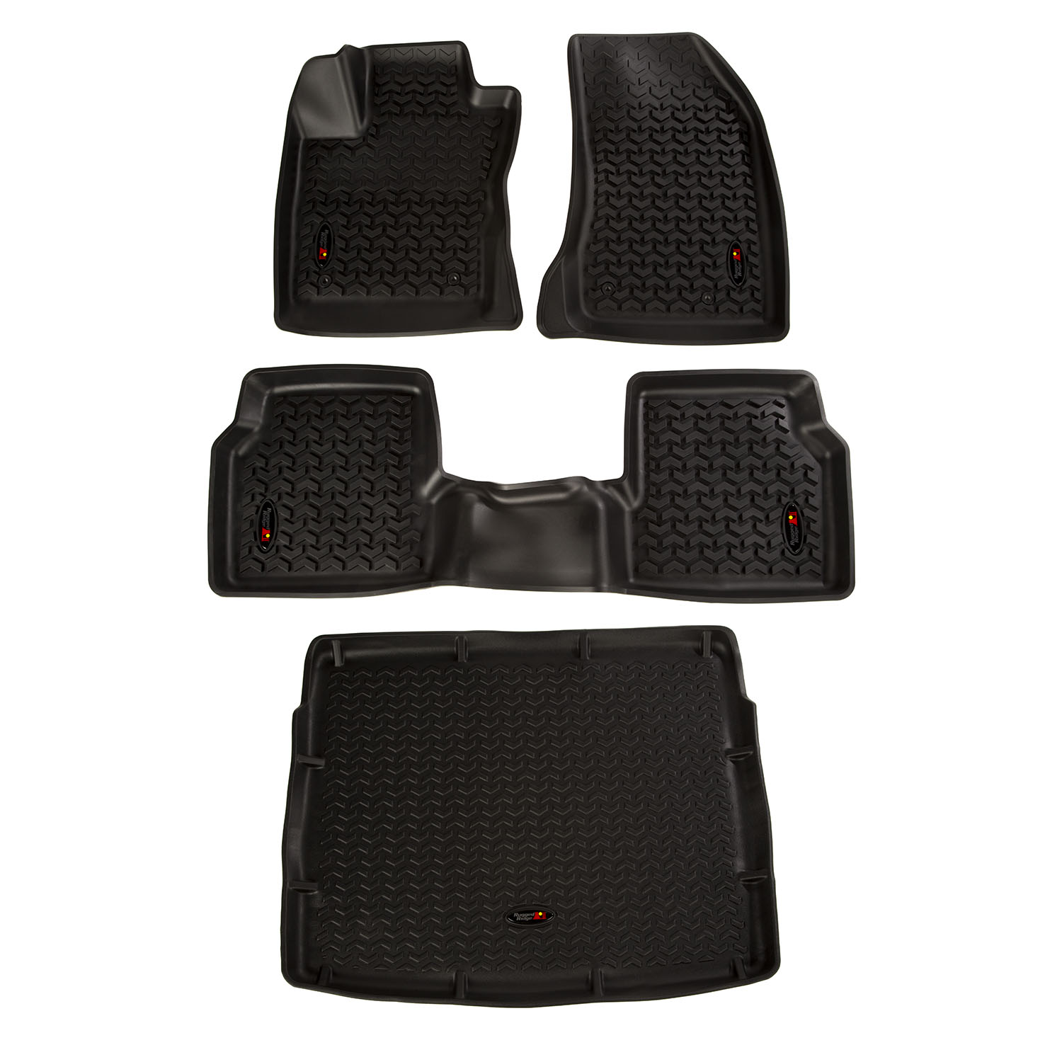 Floor Liner Front/Rear/Cargo Black 2018-2019 Jeep Compass