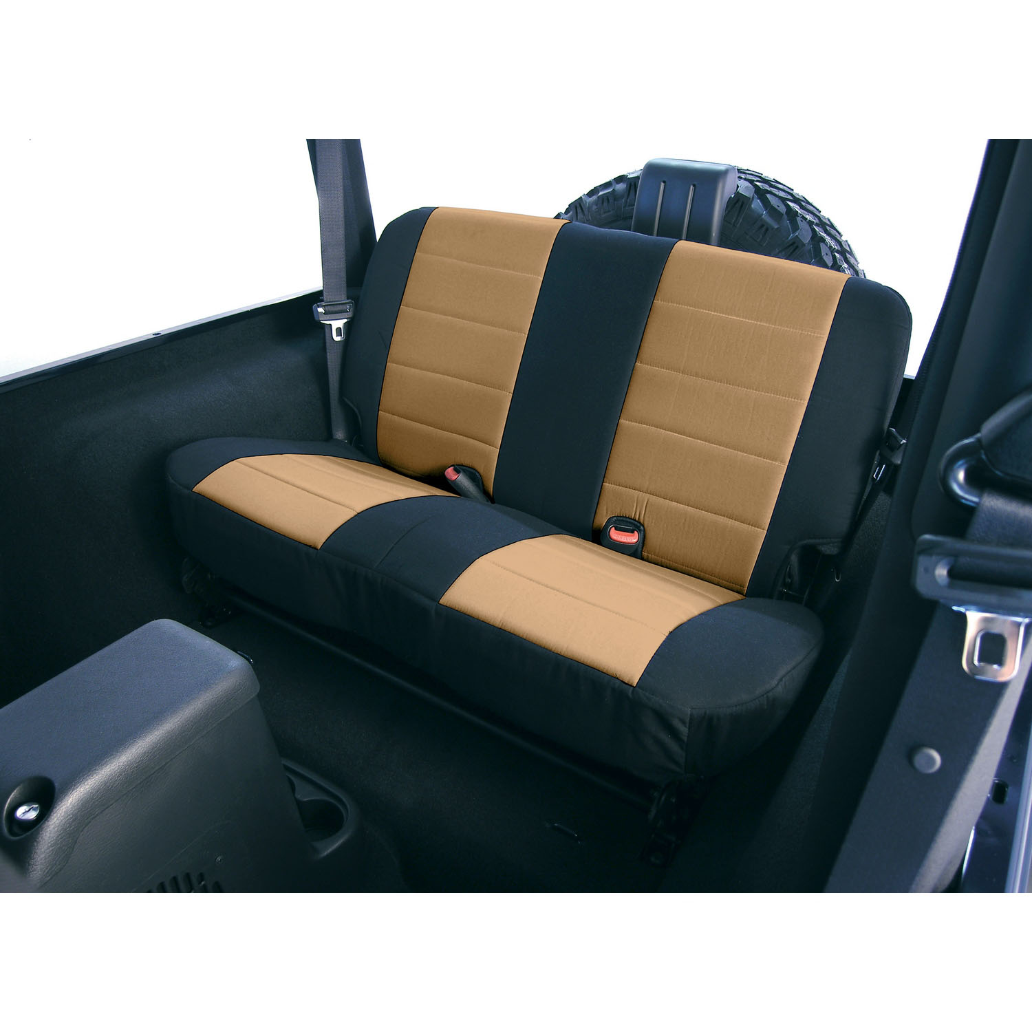 Seat Cover Kit Rear Fabric Tan 80-95 Jeep CJ/Wrangler YJ