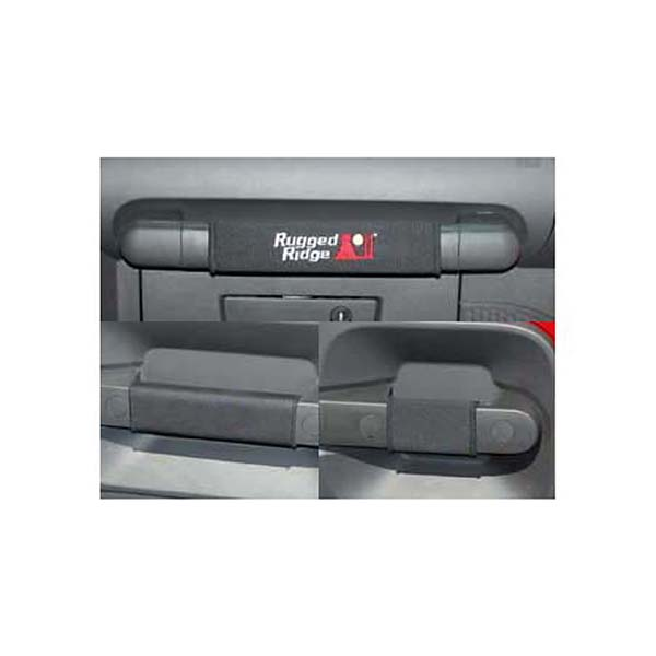 Red Door Grab Cover Kit 2 Door for Jeep Wrangler JK 07-10 13305.57 Rugged Ridge