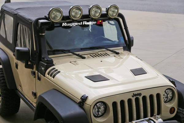 Performance Hood Vents for Jeep Wrangler TJ JK 1997-2018 17759.09 Rugged Ridge
