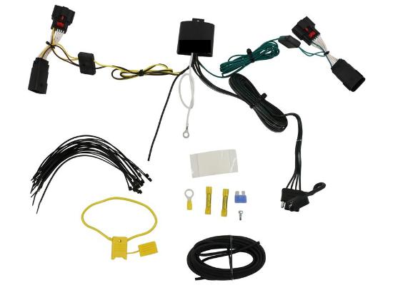 Way Flat Wiring Harness Slack on 4 way flat connectors, 4 way flat cover, 4 way flat mounting bracket, 4 wire harness,