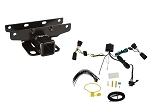 2018 Jeep JL Wrangler 2 Inch Trailer Receiver Hitch Kit Flat Four Wire Harness