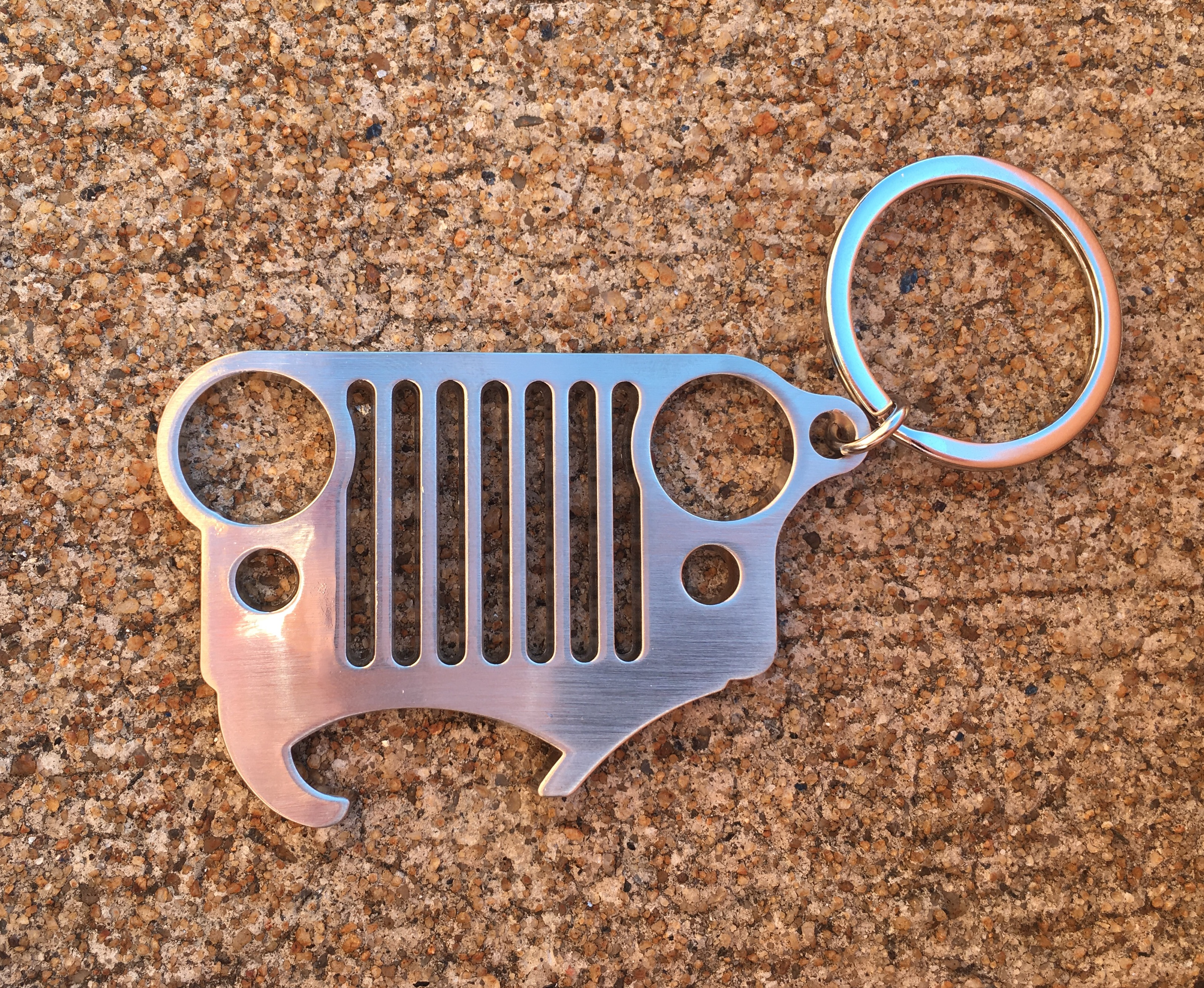 Jeep CJ Grille Keychain with Bottle Opener