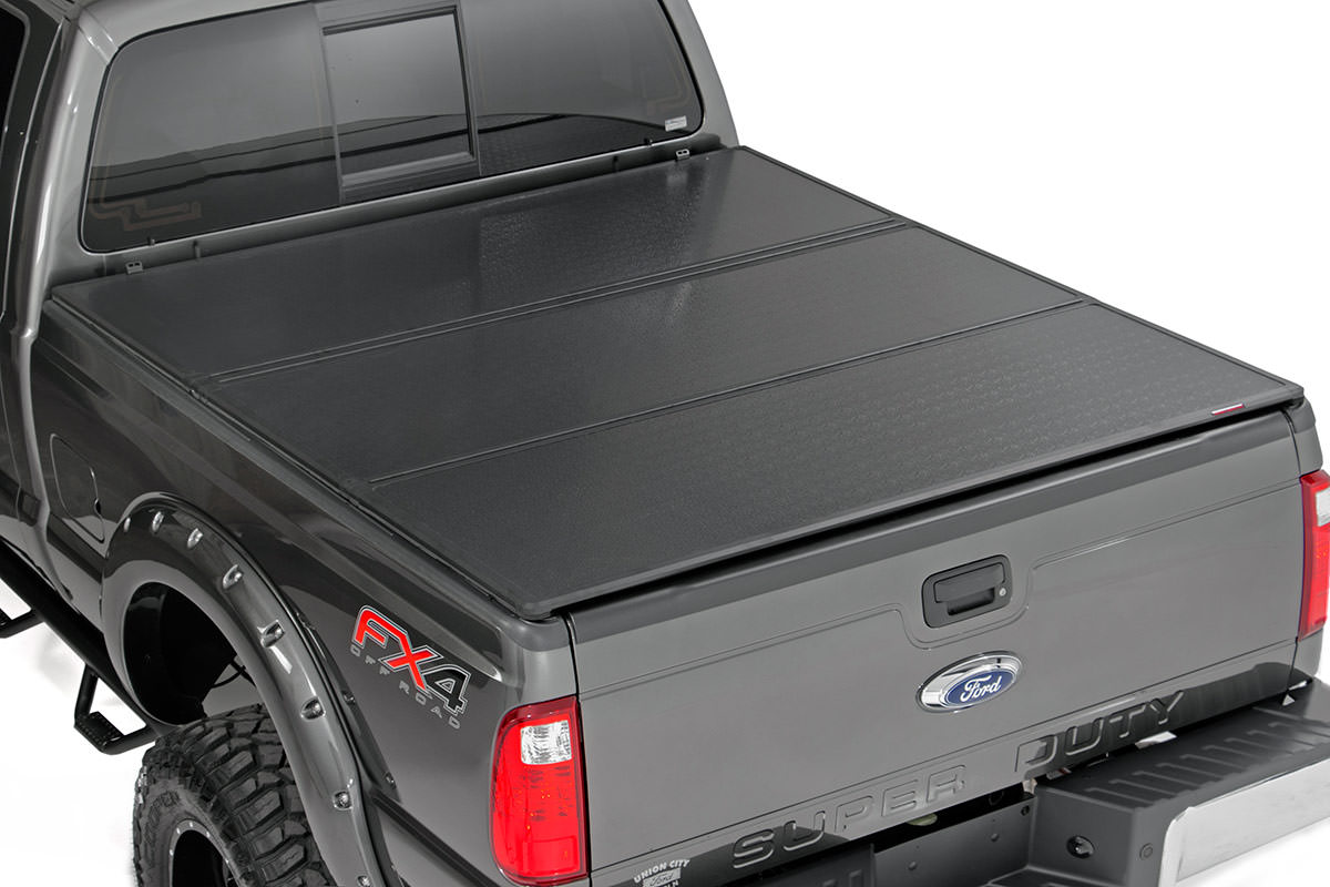 Hard Tri-Fold Tonneau Bed Cover (5.5-foot Bed)<br>Fits: Ford: 15-16 F150 4WD/2WD