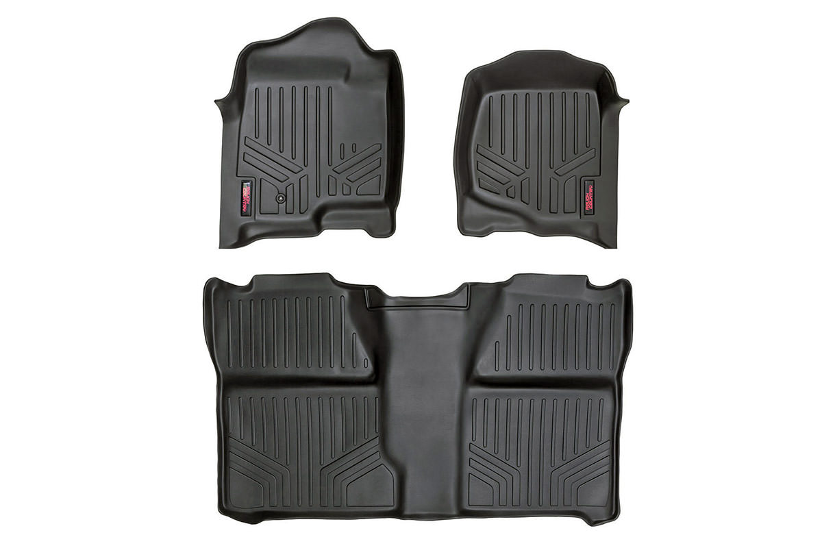 Heavy Duty Floor Mats - Front & Rear Combo (Extended Cab Models)<br>Fits: Chevrolet: 99-06 Silverado 1500 4WD/2WD; GMC: 99-06 Sierra 1500 4WD/2WD