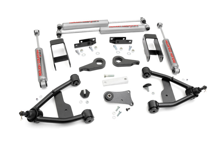 2.5-inch Suspension Leveling Lift Kit<br>Fits: Chevrolet: 83-05 S10 Blazer 4WD 82-04 S10 Pickup 4WD; GMC: 83-01 S15 Jimmy 4WD 82-90 S15 Pickup 4WD 91-04 Sonoma 4WD