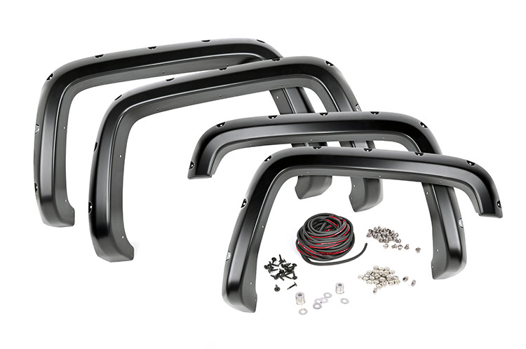 Pocket Fender Flares w/ Rivets<br>Fits: Chevrolet: 88-98 1500 Pickup 4WD/2WD 92-99 1500 Suburban 4WD/2WD 92-94 Blazer 4WD/2WD 95-99 Tahoe 2WD; GMC: 88-98 1500 Pickup 4WD/2WD 92-99 1500 Suburban 4WD/2WD 92-99 Yukon 4WD/2WD
