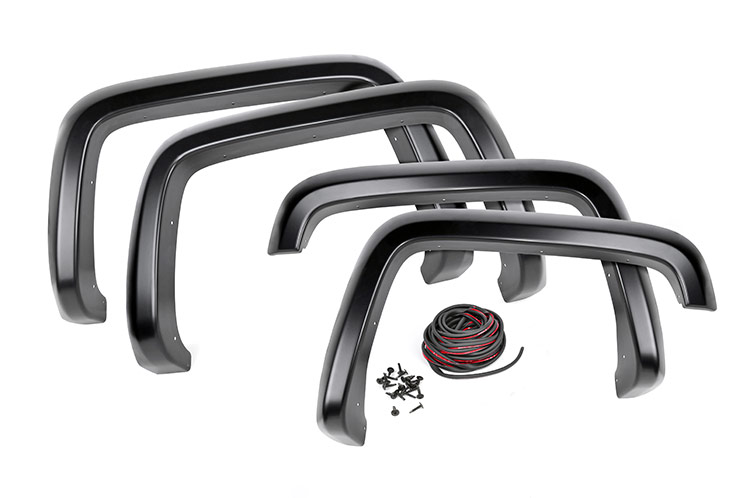 Smooth Pocket Fender Flares (6.5-foot & 8-foot Bed Models)<br>Fits: Chevrolet: 07-13 Silverado 1500 4WD/2WD