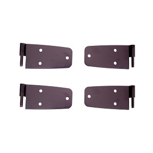 Door Hinge Kit Black 76-86 Jeep CJ