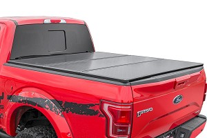 Hard Tri-Fold Tonneau Bed Cover (6.5-foot Bed w/o Cargo Management System)<br>Fits: Ford: 99-16 F250 Super Duty 4WD/2WD 99-16 F350 Super Duty 4WD/2WD